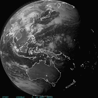 Satelite View of PNG and Pacific